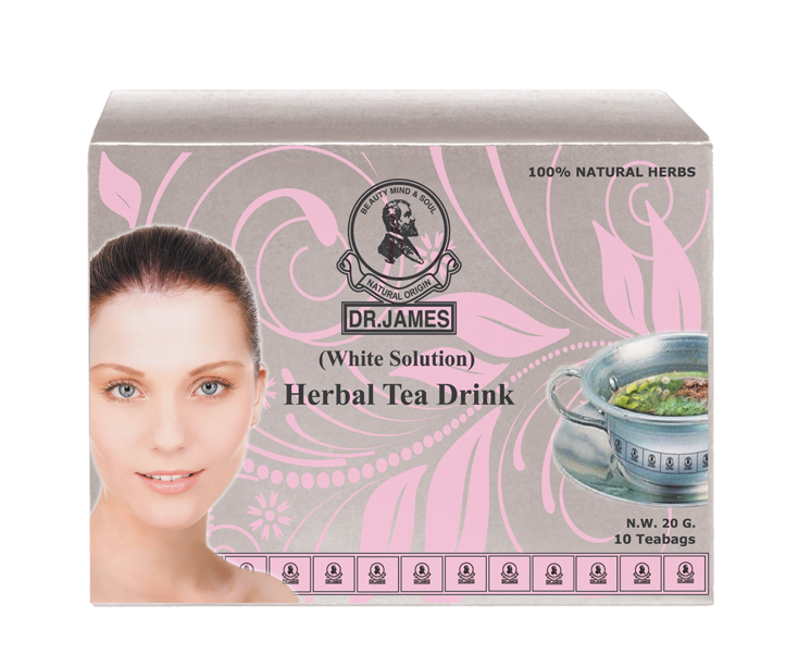 * No Stock * M34 DR.JAMES HERBAL TEA DRINK (White Solution) 10g.