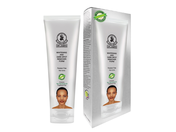 S33 DR. JAMES WHITENING AND DARK SPOT REMOVER FORM  100g.