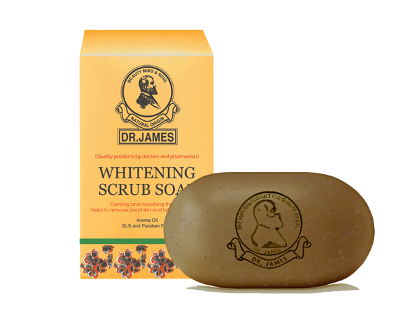 ***Out Of Stock*** S5* DR.JAMES WHITENING SCRUB SOAP 20g.